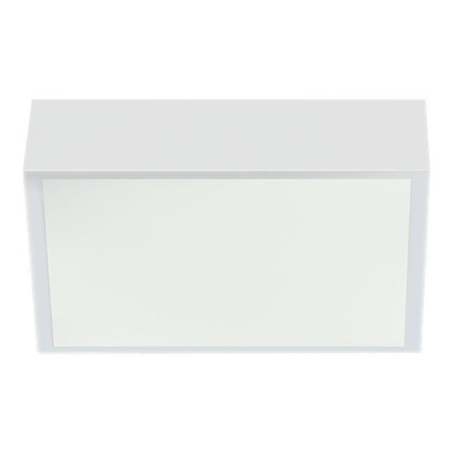 Aneta Acri kostean tilan LED-kattoplafondi IP44 valkoinen