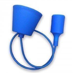 Blue Simple LED Bulb Pendant