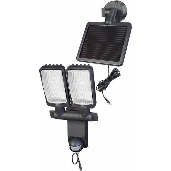 Brennenstuhl LED-lamppu aurinkopaneeli IP44 320lm IR 4 7m musta