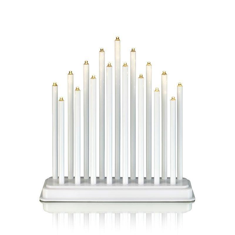 Chester kynttelikkö 17L LED Valkoinen
