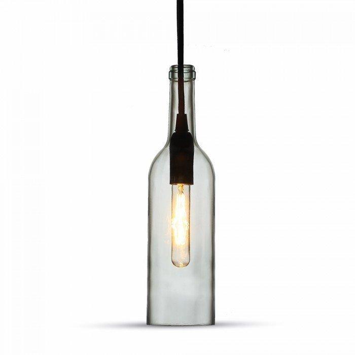 Clear Glass Bottle LED Pendant