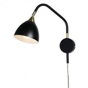 Cottex Läza Wall Lamp Black with Brass details