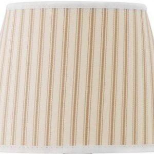 Cottex Lampunvarjostin raidallinen Beige 20 cm