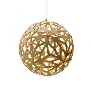 David Trubridge Floral Riippuvalaisin Bamboo / Keltainen Ø100