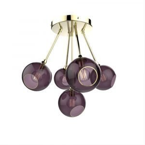 Design By Us Ballroom Molecule Riippuvalaisin Brass / Purple