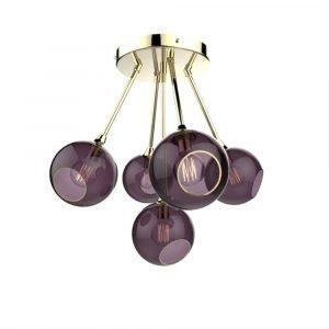 Design By Us Ballroom Molecule Riippuvalaisin Brass / Purple