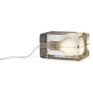 Design House Stockholm Block Lamp Pöytävalaisin Valkoinen Johto