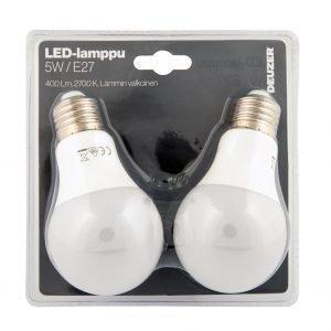 Deuzer Led Vakiolamppu E27 5w 2 Kpl