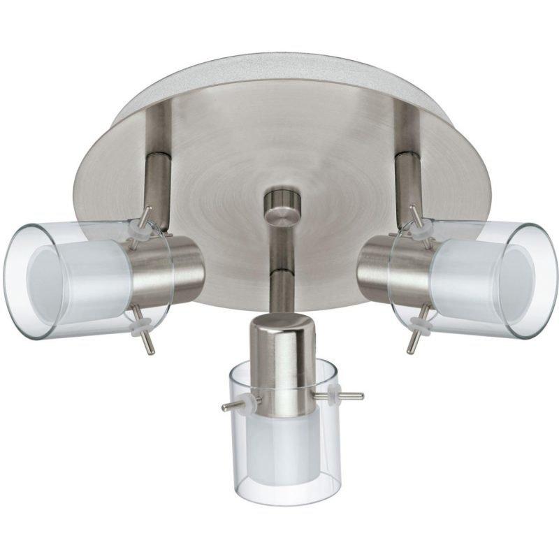 Eglo Kattospotti LED Sparano 3-osainen harjattu teräs valkoinen/kirkas