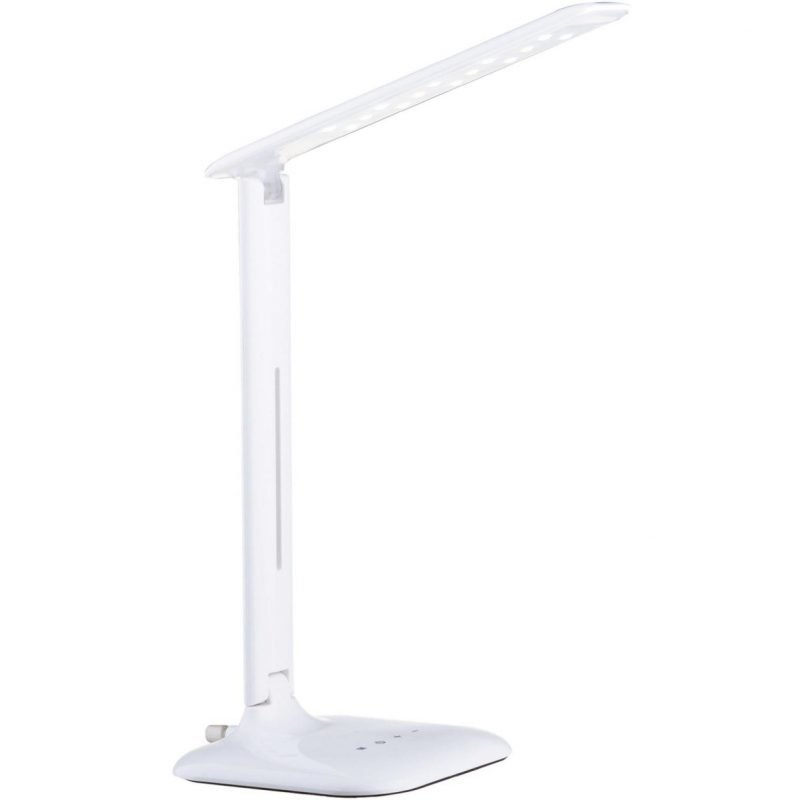 Eglo LED-Pöytävalaisin Caupo valkoinen kosketushimmennin