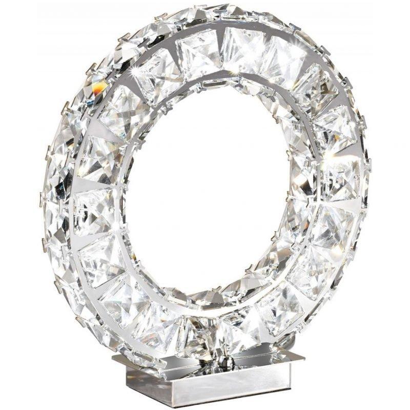 Eglo LED-Pöytävalaisin Toneria kromi kristalli