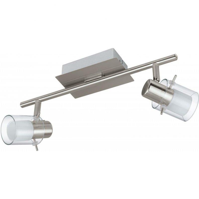 Eglo LED-kattospotti Sparano 2-osainen harjattu teräs valkoinen/kirkas