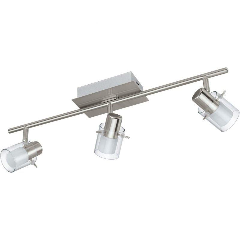 Eglo LED-kattospotti Sparano 3-osainen harjattu teräs valkoinen/kirkas