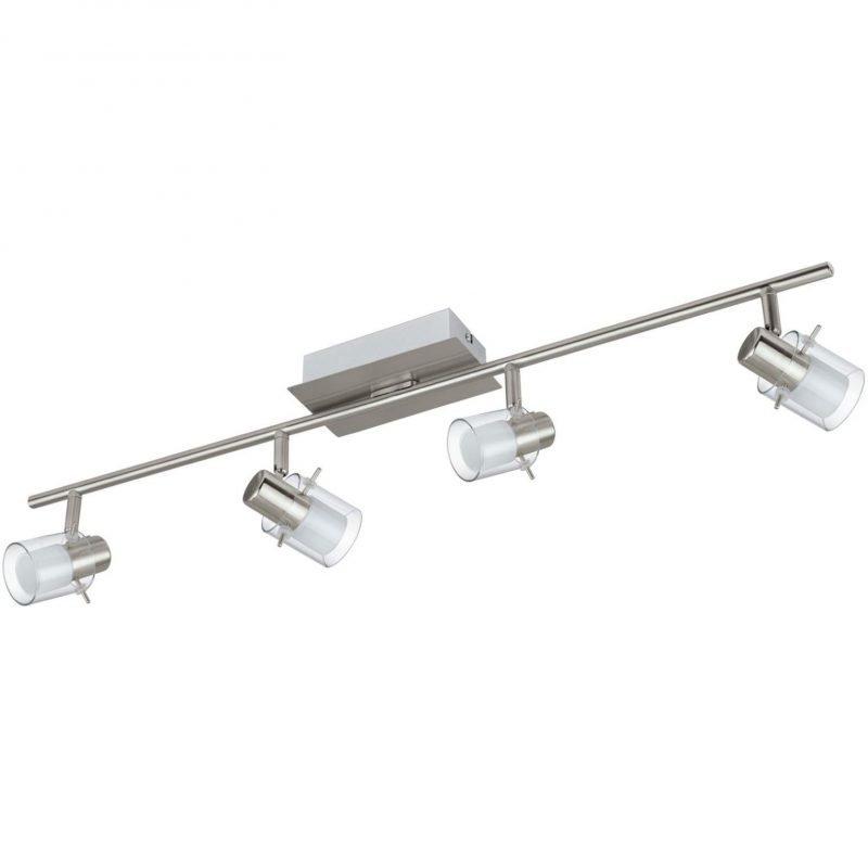 Eglo LED-kattospotti Sparano 4-osainen harjattu teräs valkoinen/kirkas