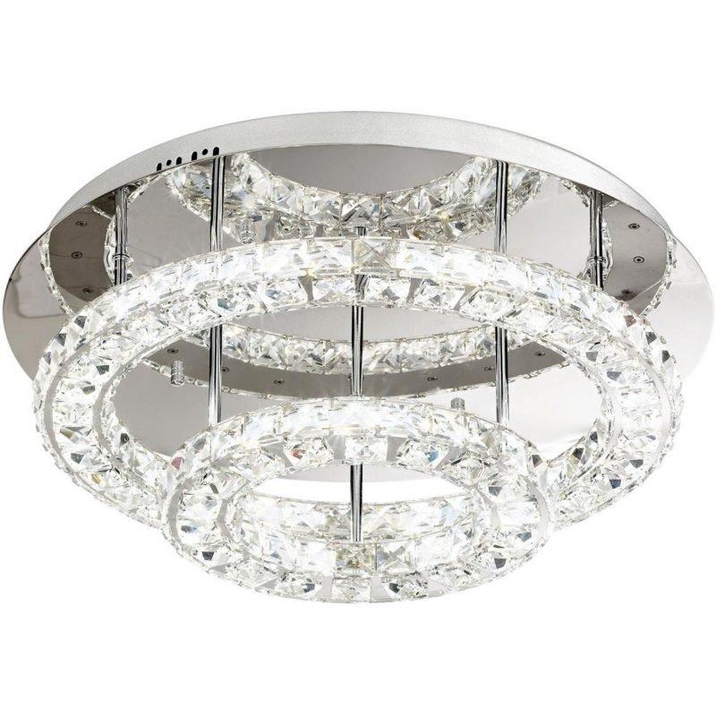 Eglo LED-plafondi Toneria Ø 550x220 mm kromi kristalli
