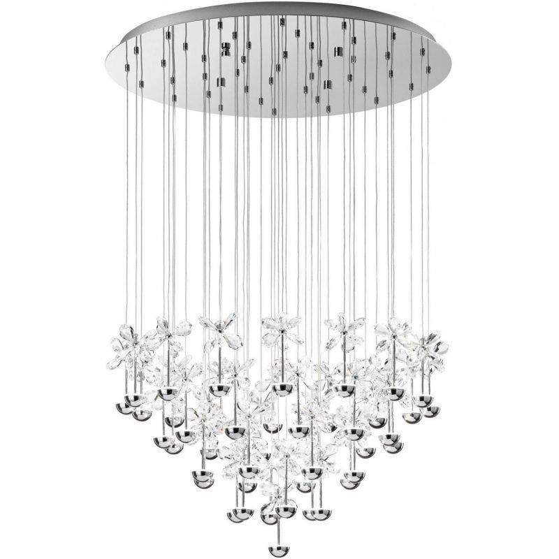 Eglo LED-riippuvalaisin Pianopoli Ø 78 cm kromi kristalli