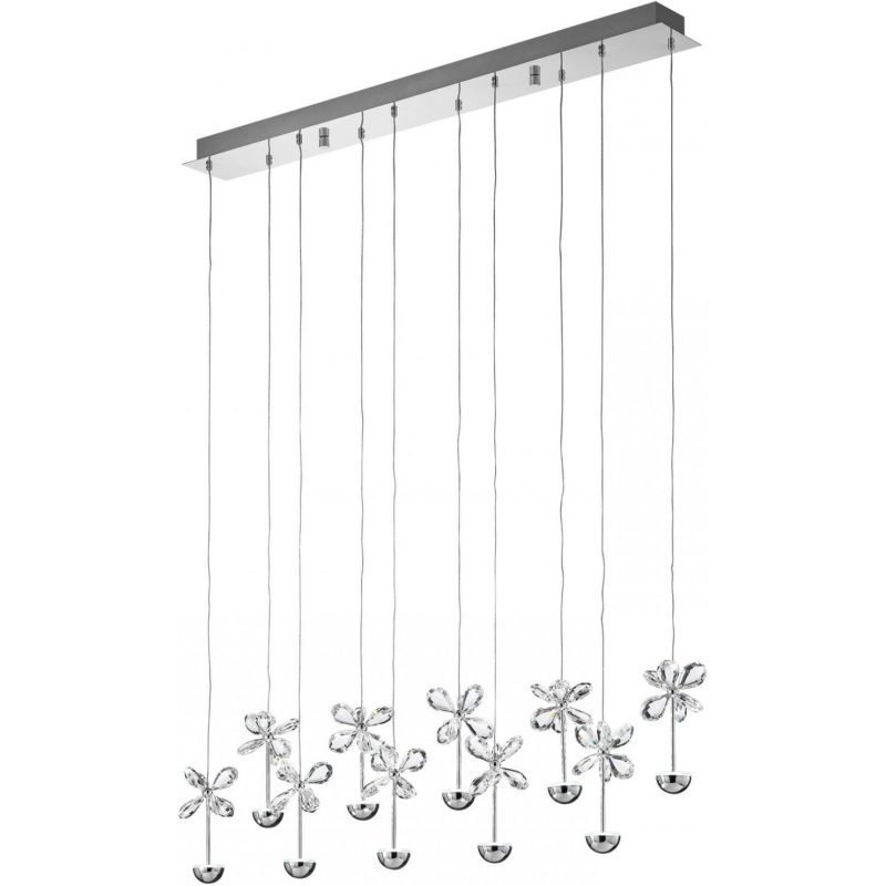 Eglo LED-riippuvalaisin Pianopoli 87 cm kromi kristalli