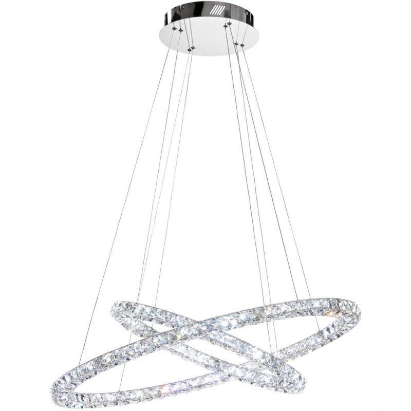 Eglo LED-riippuvalaisin Toneria 90 cm kromi kristalli