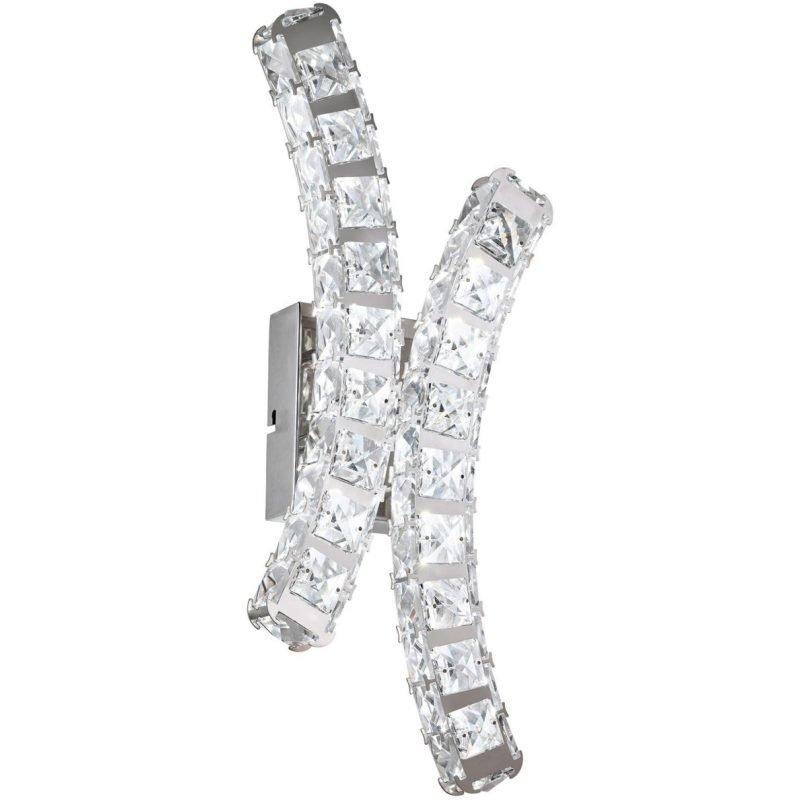 Eglo LED-seinävalaisin Toneria kromi kristalli