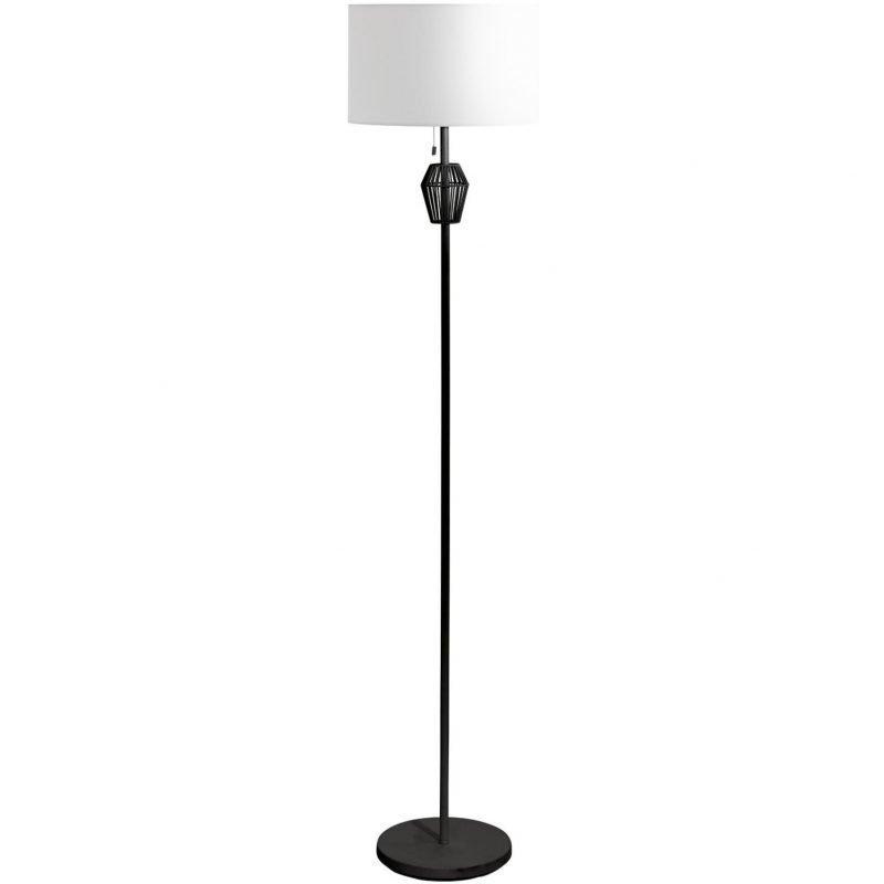 Eglo Lattiavalaisin Valseno 158 cm musta valkoinen kangasvarjostin vetokytkin
