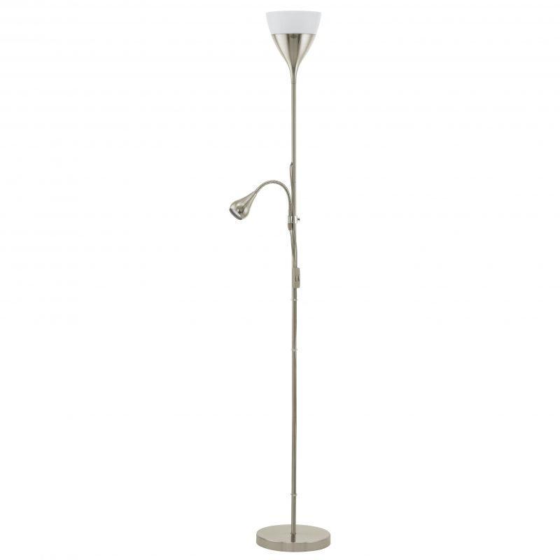Eglo Lattiavalaisin lukuvalolla LED SPELLO 2 176 cm harjattu teräs