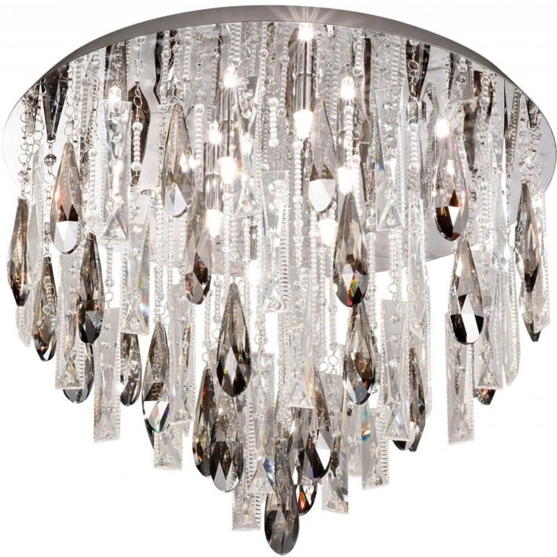 Eglo Plafondi Calaonda G9 8x33W Ø 58 cm kromi kristalli
