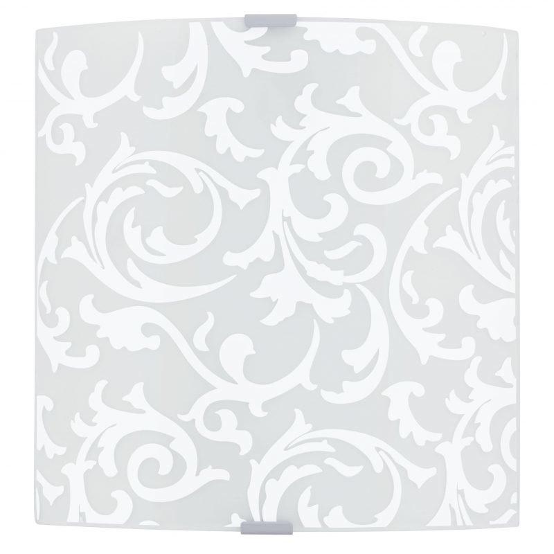 Eglo Plafondi GRAFIK koristeltu lasi valkoinen