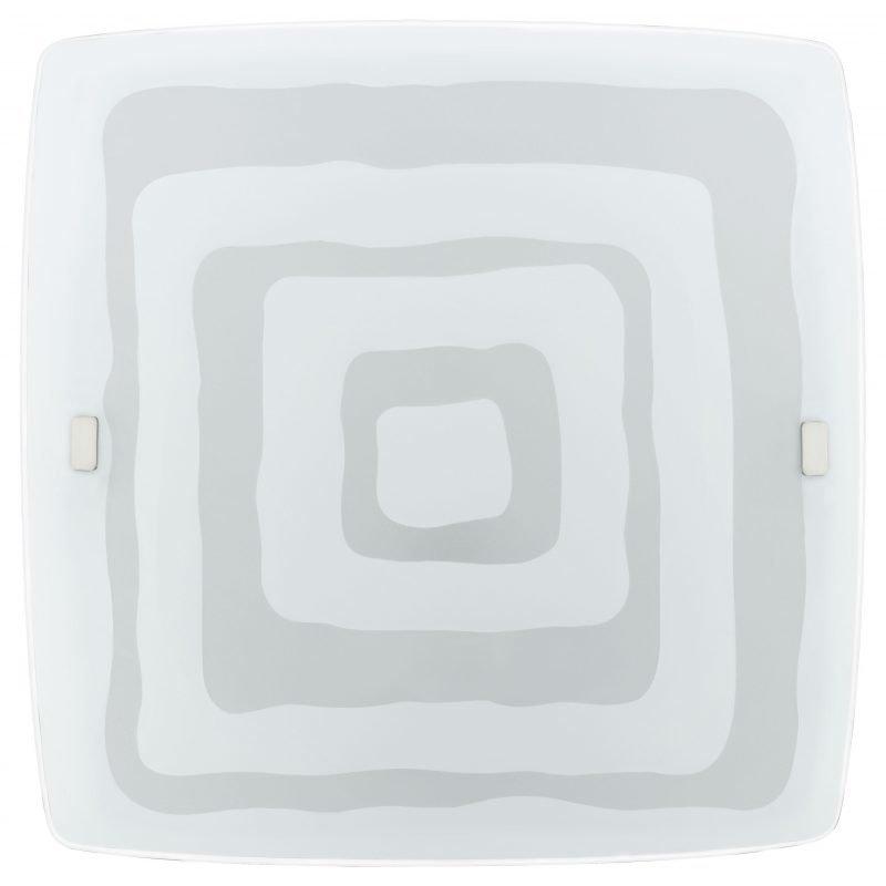 Eglo Plafondi LED BORGO 51x51 cm koristeltu satiinilasi