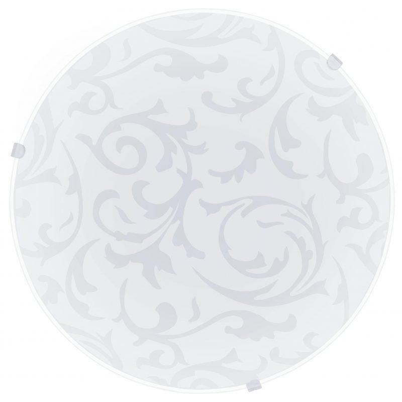 Eglo Plafondi MARS koristeltu lasi valkoinen