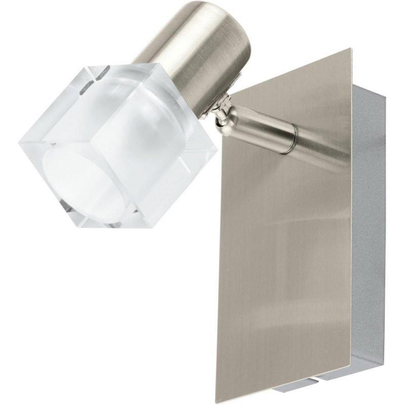 Eglo Seinäspotti LED Nocera harjattu teräs kirkas lasi