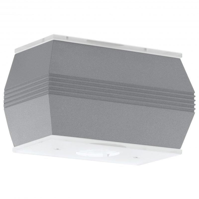 Eglo Seinävalaisin ulos NORIKA 1 LED hopea 4x2