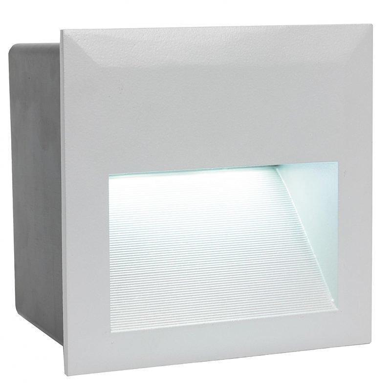 Eglo Upotettava ulkovalaisin ZIMBA LED hopea kapea IP65