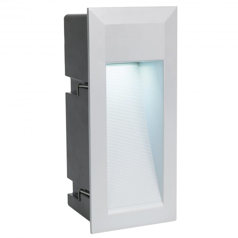 Eglo Upotettava ulkovalaisin ZIMBA LED hopea matala IP65