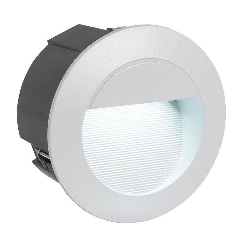 Eglo Upotettava ulkovalaisin ZIMBA LED hopea pyöreä IP65