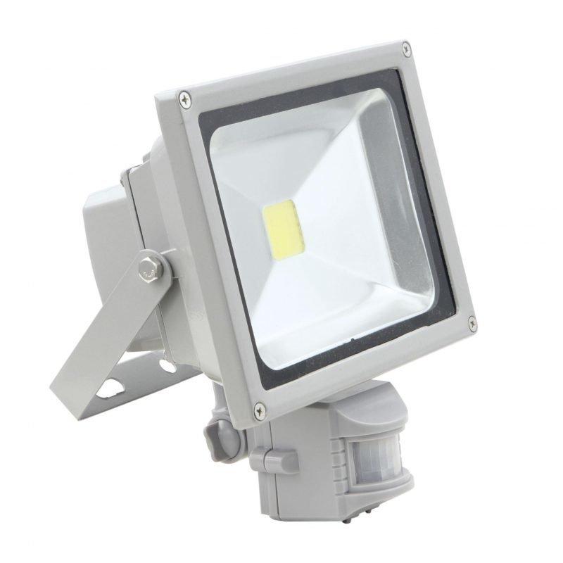 Eglo Valonheitin FADEO LED 20W tunnistimella hopea IP44