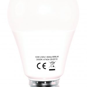 Electrogear Led Vakiolamppu 10w E27 806lm 3000k 10 Kpl