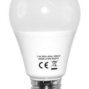 Electrogear Led Vakiolamppu 11w E27 1055lm 3000k 10 Kpl