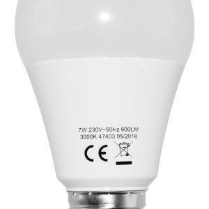 Electrogear Led Vakiolamppu 7w E27 650lm 3000k 10 Kpl