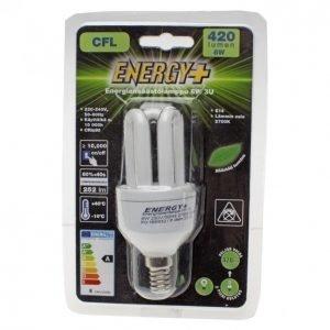 Energy+ Energiansäästölamppu 8w E14
