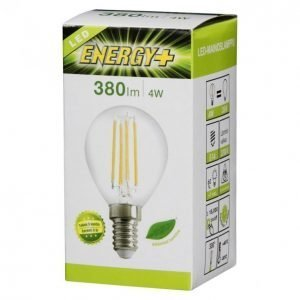 Energy+ Led Filamentti Mainoslamppu 4w E14 380lm Kirkas
