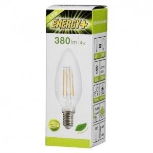 Energy+ Led Lamppu Filamentti Kynttilä 4w E14 380lm Kirkas