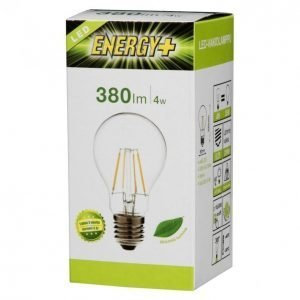 Energy+ Led Lamppu Filamentti Vakio4w E27 380lmkirkas