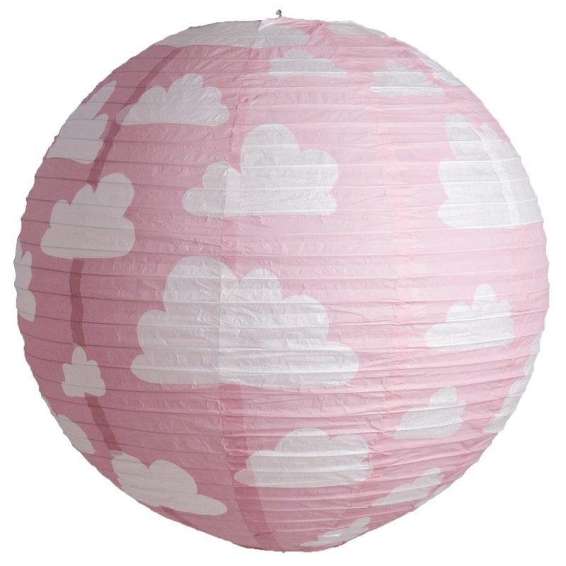 Färg & form Moln Riisi valaisin 50 cm Pinkki