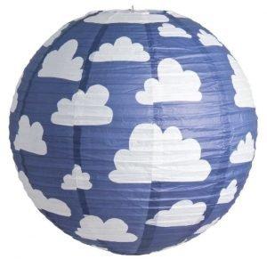 Färg & form Moln Riisi valaisin 50 cm Sininen