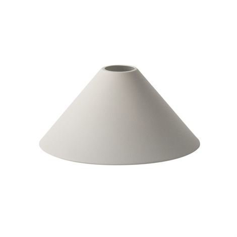 Ferm Living Collect Lampunvarjostin Cone Light Grey Vaaleanharmaa