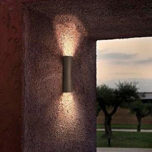 Flos Clessidra 40°+40° Ulko Seinävalaisin Tumma Ruskea