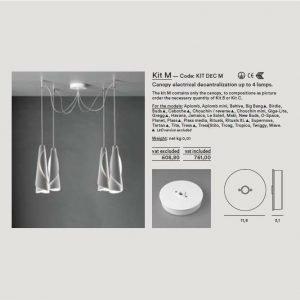 Foscarini Kattokupu 1-4 Valaisimelle Kit Dec M