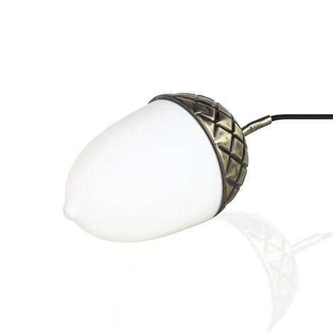 Globen Lighting Acorn Pöytävalaisin Messinki-Opaalilasi