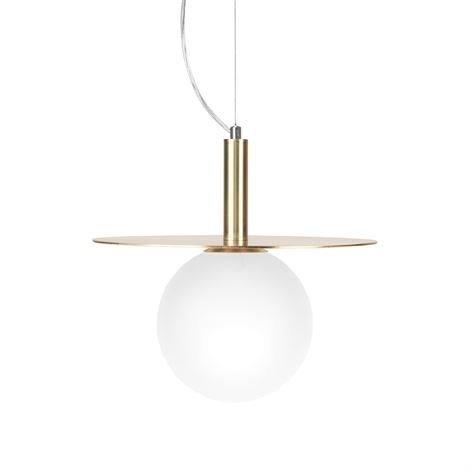 Globen Lighting Art Deco Kattovalaisin Harjattu Messinki