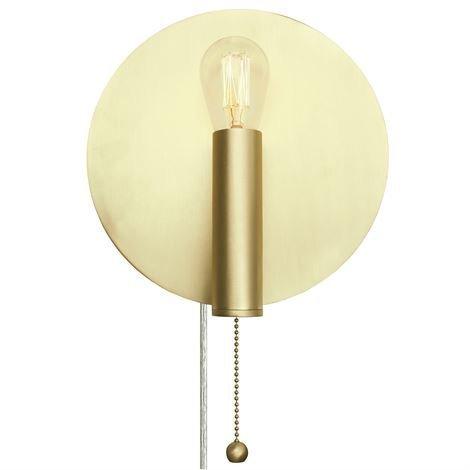 Globen Lighting Art Deco Seinävalaisin Harjattu Messinki